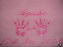 PERSONALISED BABY BLANKET, CHOICE OF 5 COLOURS
